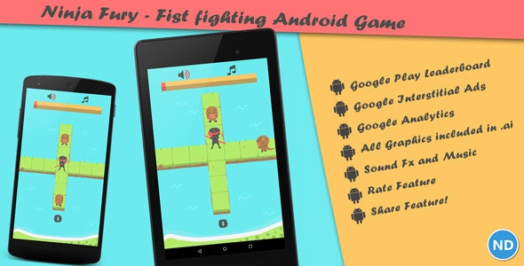 Ninja Fury - A Fist Fighting Android Game - CodeCanyon Item for Sale