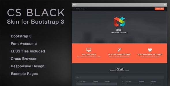CS Black - Bootstrap 3 Skin