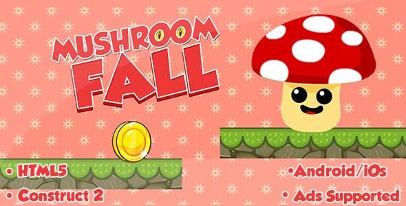 Mushroom Fall - HTML5 Game