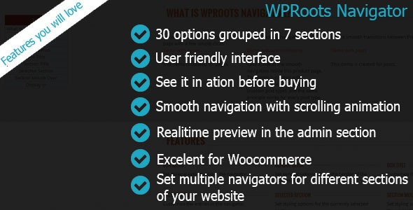 WPRoots Navigator - CodeCanyon Item for Sale