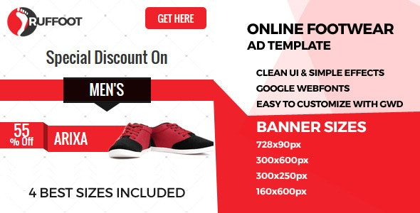 Shoe GWD Ad Banners - CodeCanyon Item for Sale