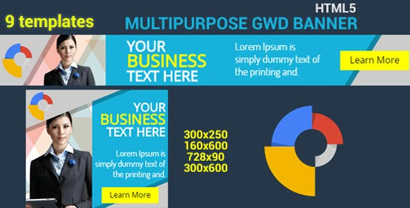 HTML5 GWD Business Banner - 06