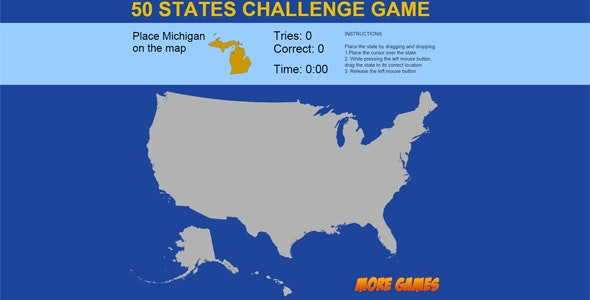 United States Map game - 50 States Challenge by dexterfly ...
