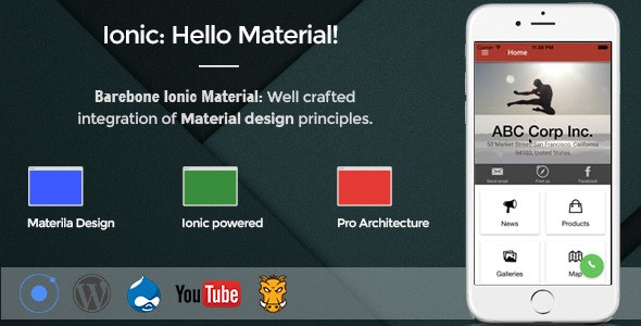 Barebone Ionic Material by appseed | CodeCanyon