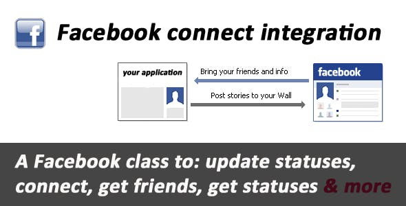 Facebook connect & API integration        Nulled