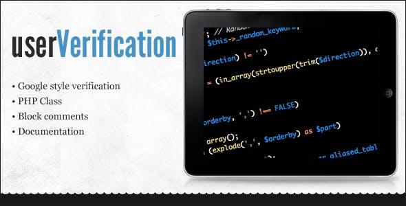 userVerification PHP Class