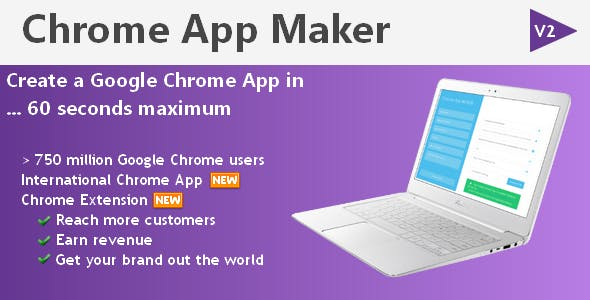 Make Chrome Extension within 1 minute - CodeCanyon Item for Sale