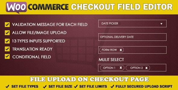 WooCommerce Checkout Field Editor - CodeCanyon Item for Sale