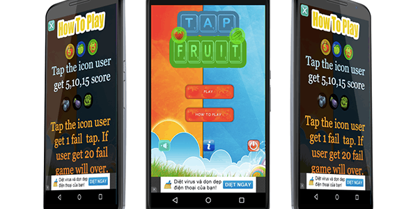Tap Fruit Game With Admob
