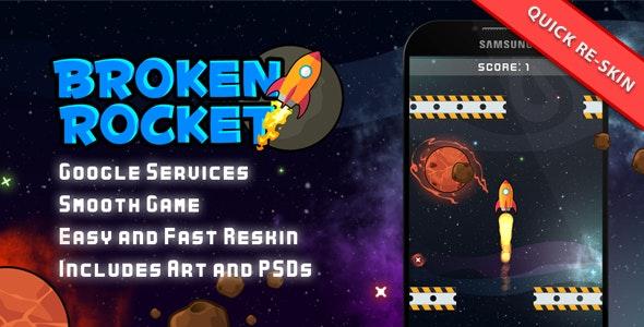 Broken Rocket - Leaders + IAP + Admob + Share - CodeCanyon Item for Sale