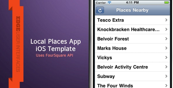 Local Places iPhone App - CodeCanyon Item for Sale