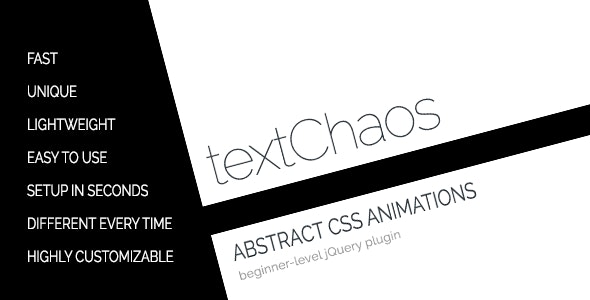 textChaos - Abstract CSS3 Text Animations - CodeCanyon Item for Sale