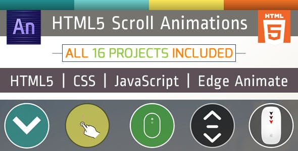16 Animated Scroll Icons Package