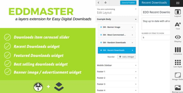 EddMaster - Layers Easy Digital Downloads Xtension