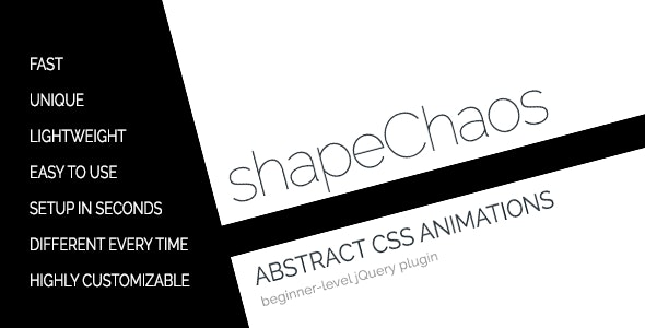 shapeChaos - Abstract CSS3 Shape Animations - CodeCanyon Item for Sale