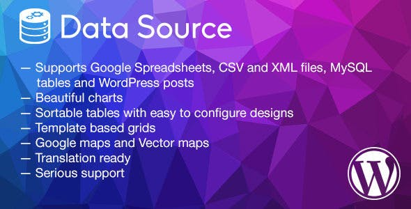 Data Source - charts, tables, maps and data grids