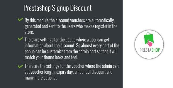 Prestashop Signup Discount - CodeCanyon Item for Sale