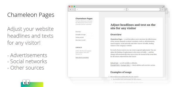 Chameleon Pages - CodeCanyon Item for Sale