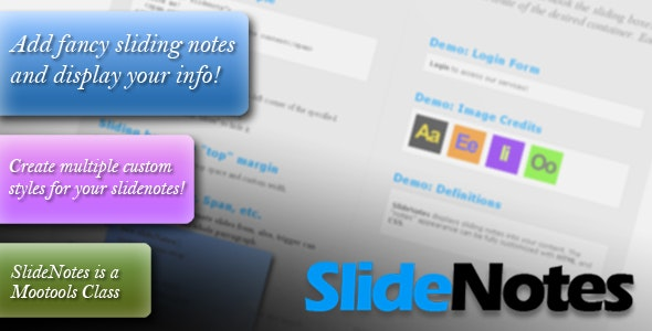 SlideNotes - CodeCanyon Item for Sale