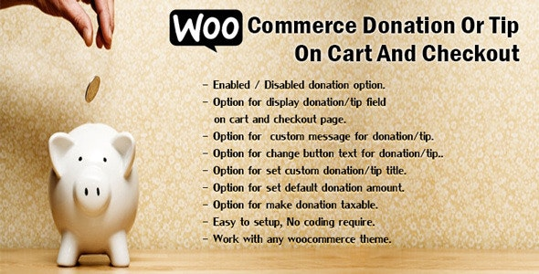 WooCommerce Donation Or Tip On Cart And Checkout - CodeCanyon Item for Sale