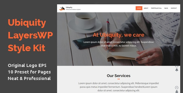 Ubiquity - Professional LayersWP Style Kit - CodeCanyon Item for Sale