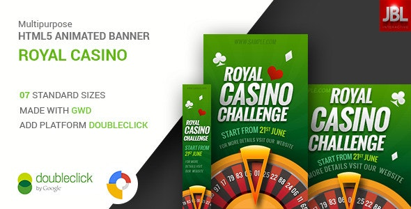 Google HTML5 Animated Banners | Royal Casino - CodeCanyon Item for Sale