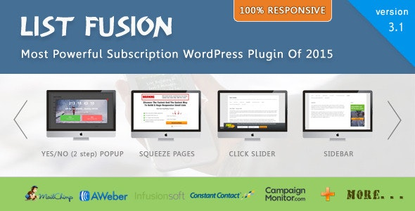 List Fusion - Best PopUp and Lead Generation Plugin - CodeCanyon Item for Sale