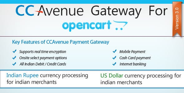 CC Avenue Payment Module for OpenCart