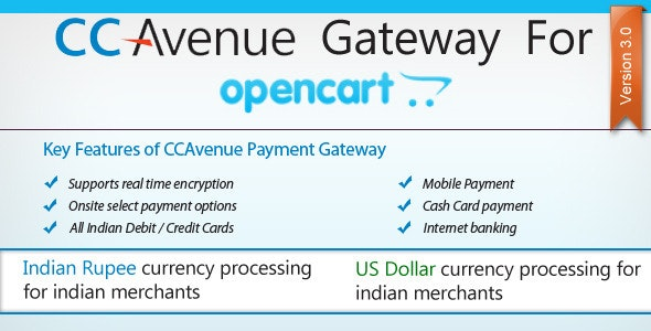 CC Avenue Payment Module for OpenCart - CodeCanyon Item for Sale