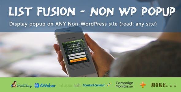 List Fusion Non WP PopUp