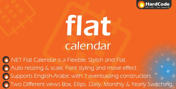 .Net Flat Calendar (with Source Code) - CodeCanyon Item for Sale