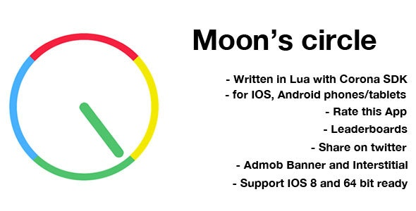 Moon's Circle: Game Template for Corona SDK - CodeCanyon Item for Sale