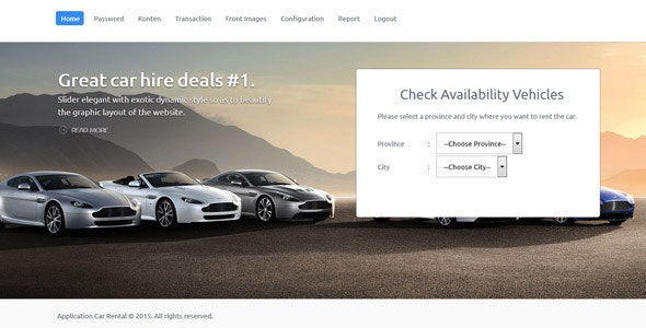 Application Car Rental - CodeCanyon Item for Sale
