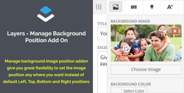 Layers Manage Background Position Add On
