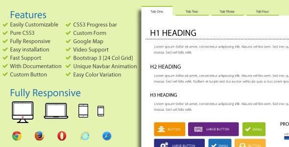 Tabulation - CSS3 & HTML5 Tab - CodeCanyon Item for Sale