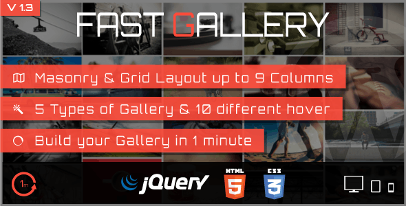 Fast Gallery - Premium Wordpress Plugin - CodeCanyon Item for Sale