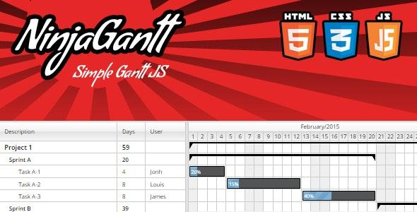 NinjaGantt - Simple Gantt JS - CodeCanyon Item for Sale