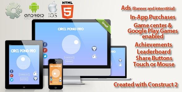 Circle Pong Pro Multi Platform - Capx & design - CodeCanyon Item for Sale