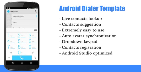Android Dialer Template - CodeCanyon Item for Sale