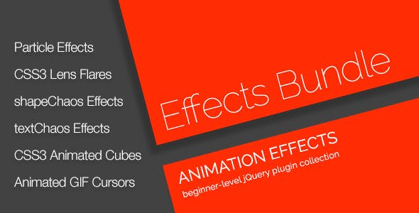 jQuery Animation Effects Bundle