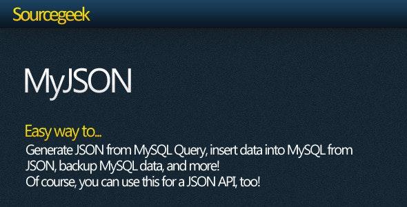 MyJSON - Work with MySQL + JSON - CodeCanyon Item for Sale