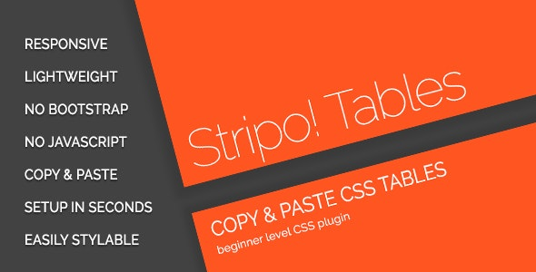 Stripo! Responsive Tables