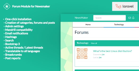 Forum Module for Newsmaker