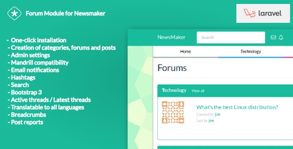 Forum Module for Newsmaker - CodeCanyon Item for Sale
