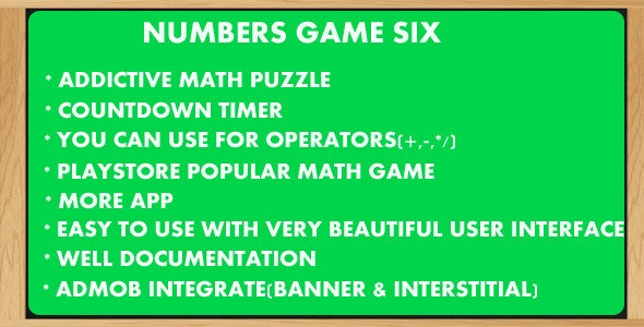 Numbers Game 6-Countdown - CodeCanyon Item for Sale