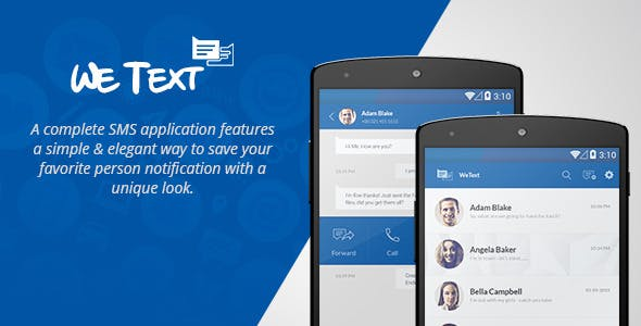 WeText - Mobile SMS Application with AdMob