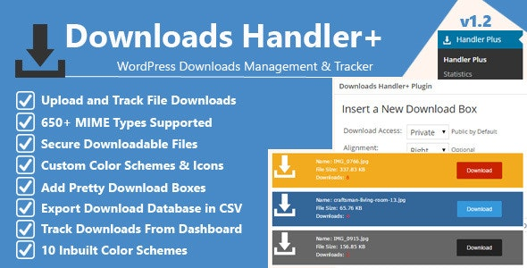Downloads Handler: WordPress Downloads Manager - CodeCanyon Item for Sale