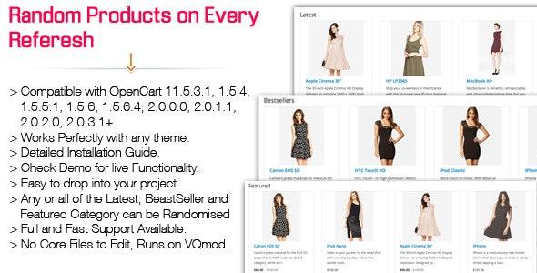 Randomise Products - Shuffle ( VQmod ) - CodeCanyon Item for Sale