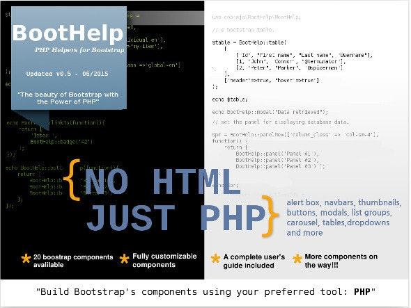 BootHelp - PHP Helpers for Bootstrap - CodeCanyon Item for Sale