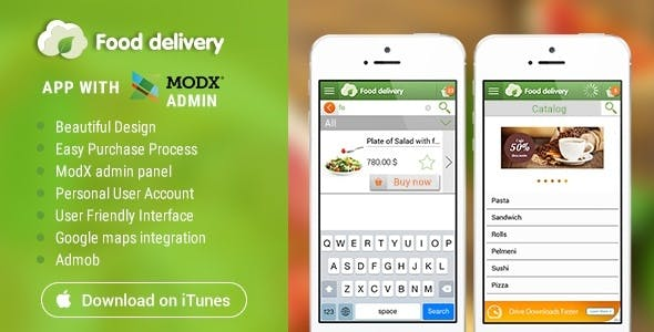 Food Delivery iOS with MODx CMS